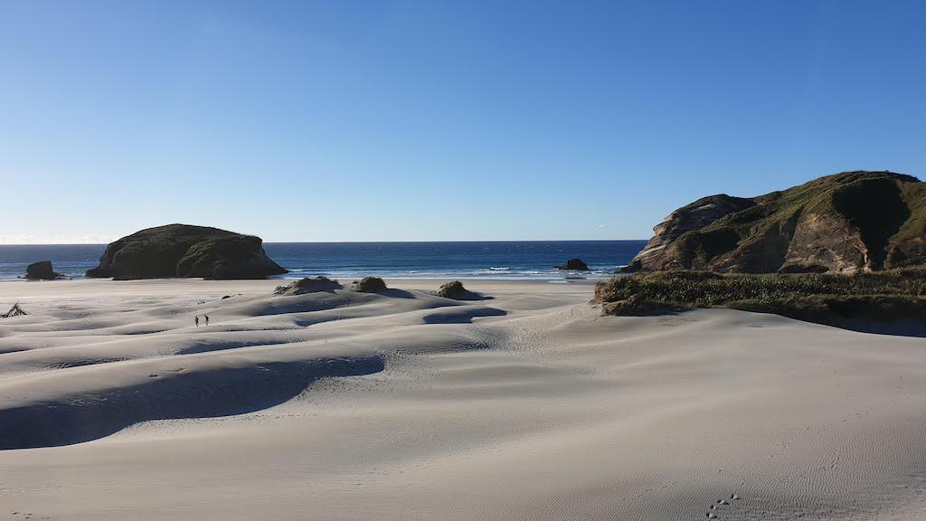 Golden Bay. La plus belle plage de notre tour du monde se trouve en nouvelle-zélande