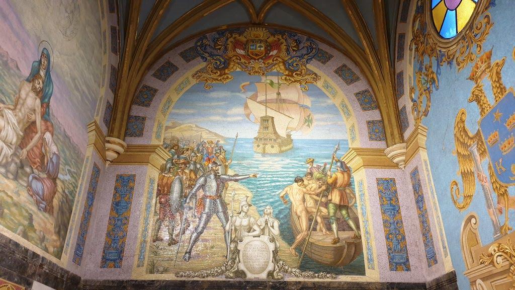 Première chapelle mosaïque sur Pizarro Cathédrale