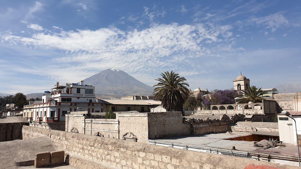 Couvent Santa Catalina vue sur le volcan Misti Arequipa