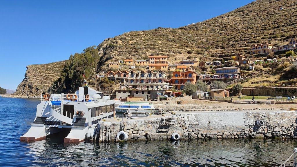 Port Yumani Isla del Sol lac titicaca