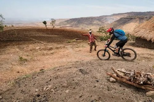 Mountain biking in Uganda