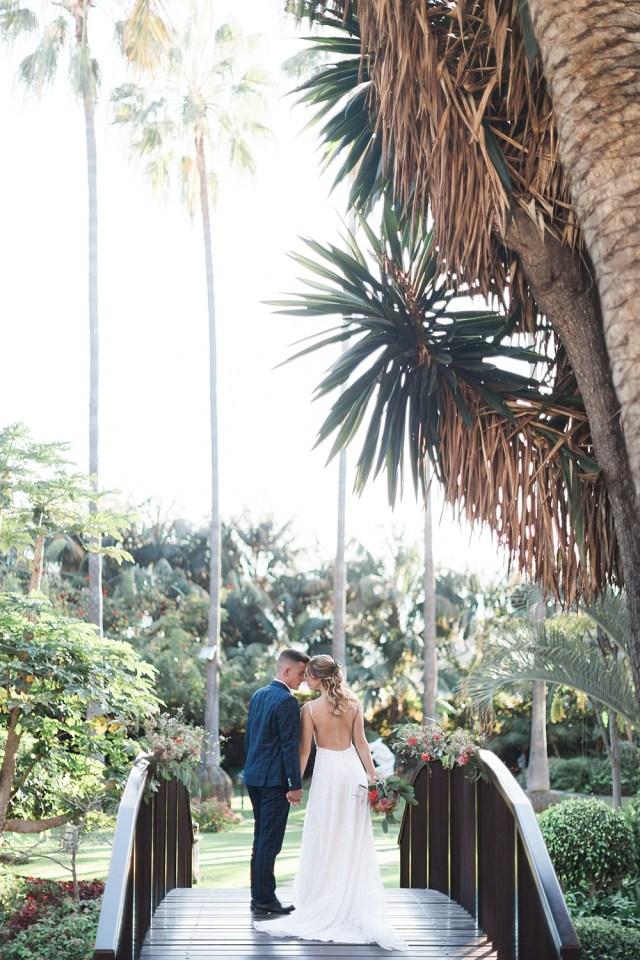 Cérémonie de mariage botanique