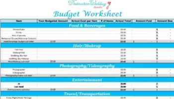 wedding cost checklist