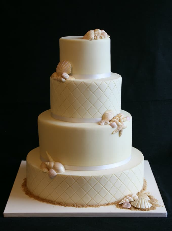 Gallery Of Beach Theme Wedding Cakes Destination Wedding