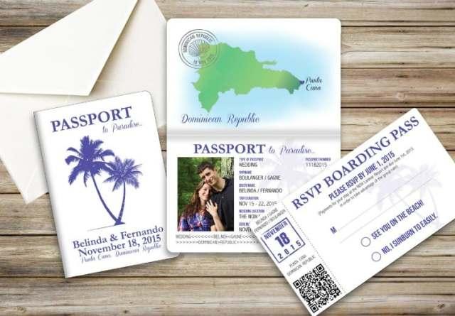 idées de mariage à destination invitations de passeport