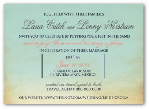 Destination Wedding Invitation Wording Exle 3