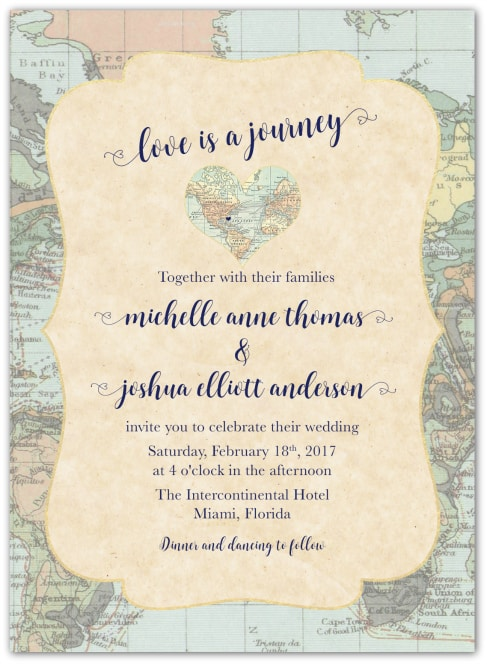 Wedding Invitations For Destination
