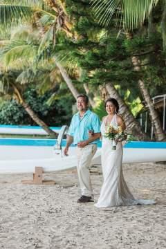 destination wedding private oahu beach 1985