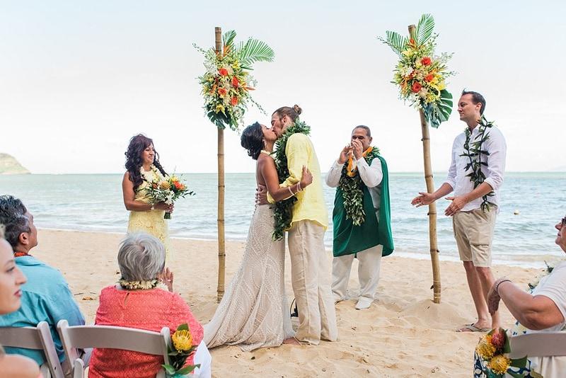 destination wedding private oahu beach 1995
