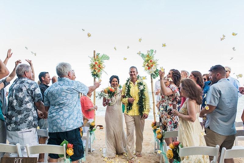 destination wedding private oahu beach 1997