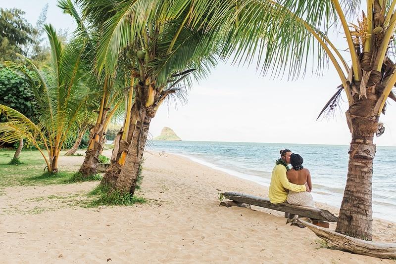 destination wedding private oahu beach 2006