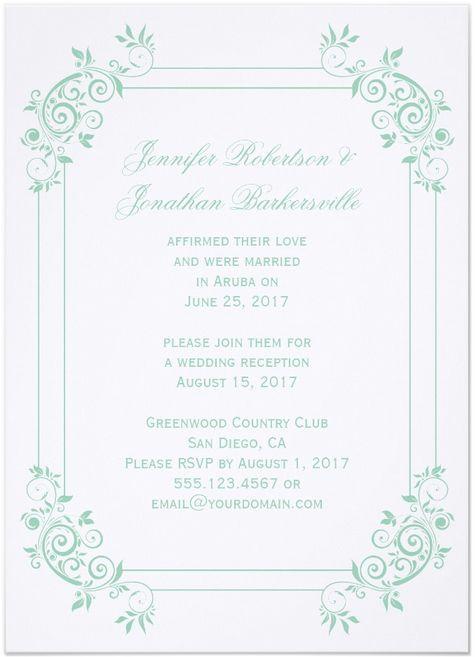 Cheap Invitations Wedding Reception