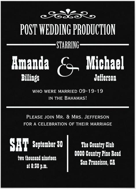 Post Destination Wedding Invitations