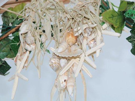 Seashells Used to Decorate the Wedding Chuppa