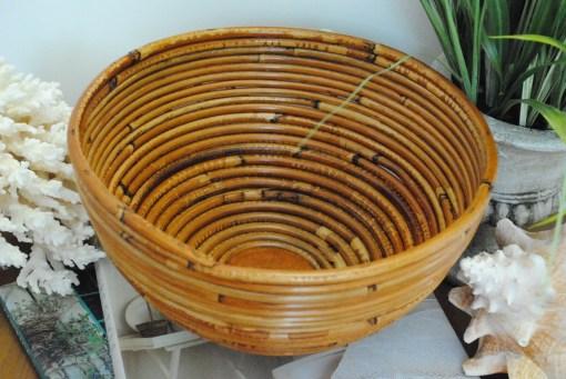Vintage Bamboo Basket Bowl