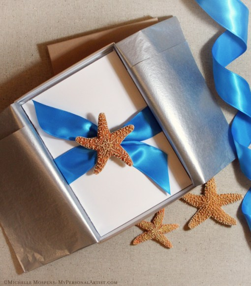 Elegant Starfish Invitations, by MyPersonalArtist.com