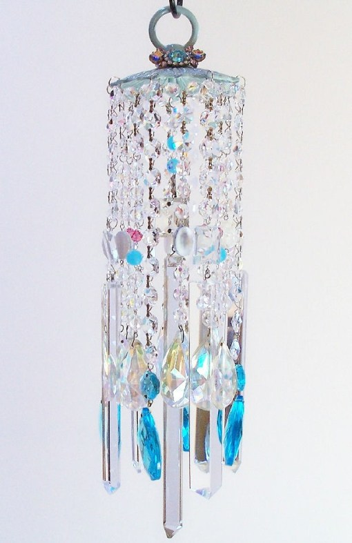 Jeweled Beach Breezes Vintage Crystal Wind Chimes