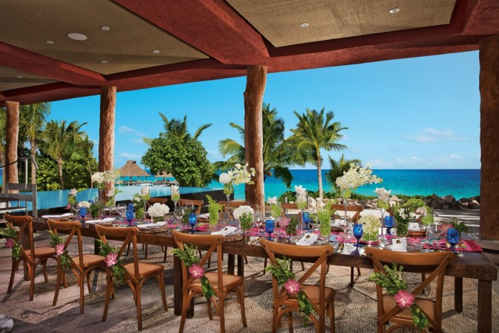 Zoetry Resort Pariaso Maya Destination Wedding Reception
