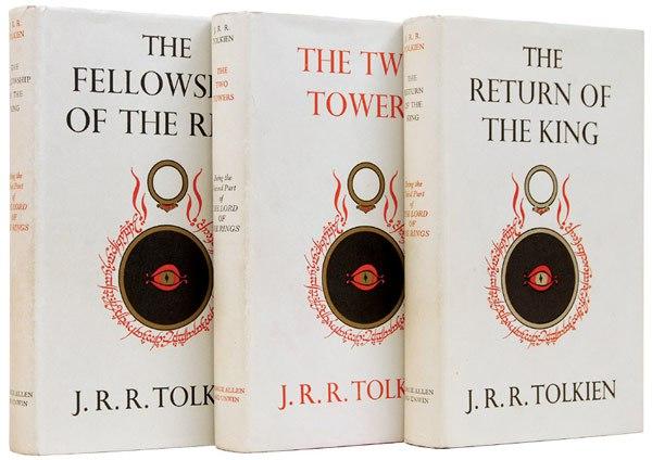 Portadas de la primera edición de 'El Señor de los Anillos' publicada entre 1954-1955