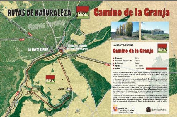 Senda Camino de la Granja en el Monasterio de la Santa Espina - Fuente de la imagen: http://www.lasantaespina.es