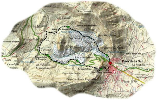Sendero de las Salinas de Poza de la Sal (Burgos) Fuente: http://www.terranostrum.es