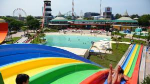 Vista de Aquafan, parte del complejo Parque de la Costa
