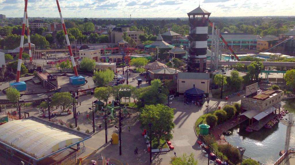 Vista aérea del Parque de la Costa