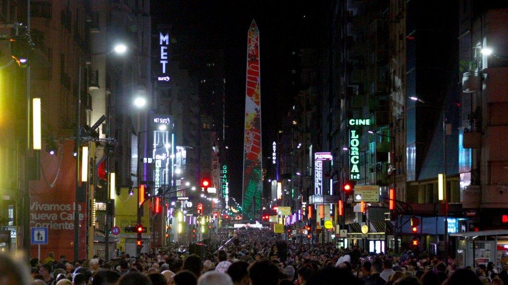 Lanzamiento de la nueva Avenida Corrientes, Buenos Aires, Argentina
