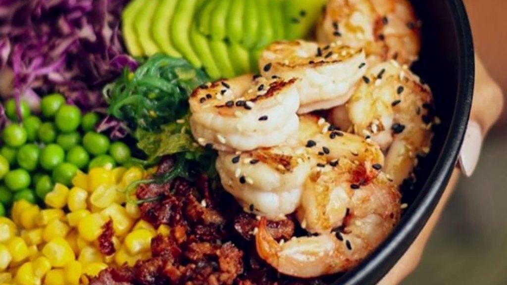 Ebi. combinación de camarones, vegetales y tocineta, Tamashi Sushi & More, Santo Domingo