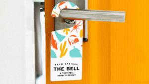 Hotel room door. (Source: Taco Bell.)