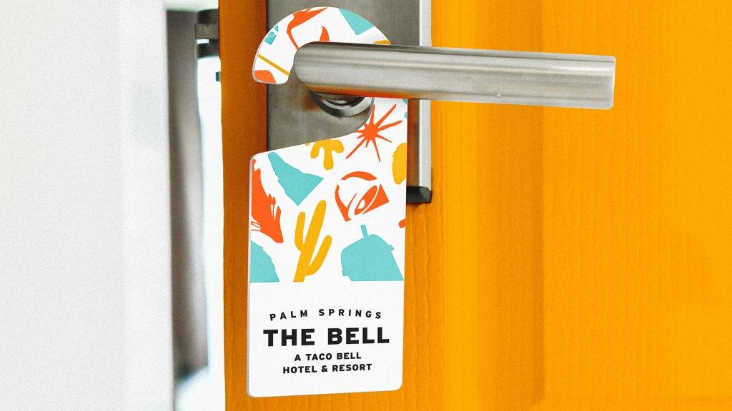 Puerta de habitación del Taco Bell Hotel (Foto: Taco Bell)