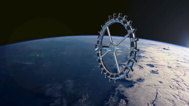 Imagen conceptual del Hotel Espacial Von Braun (Foto: Fundación Gateway)