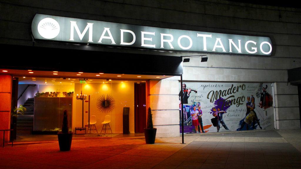 Una de las entradas a Madero Tango