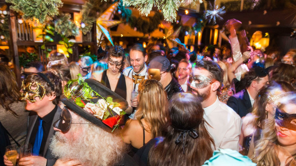 Many world capitals offer immersive New Year's Eve costume parties like A Curious Invitation's Masquerade Ball in London, England