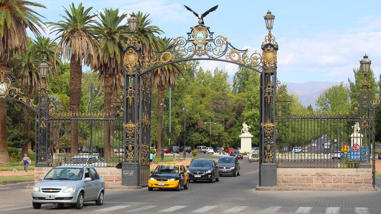 Entrada al Parque Gral. San Martín, Ciudad de Mendoza