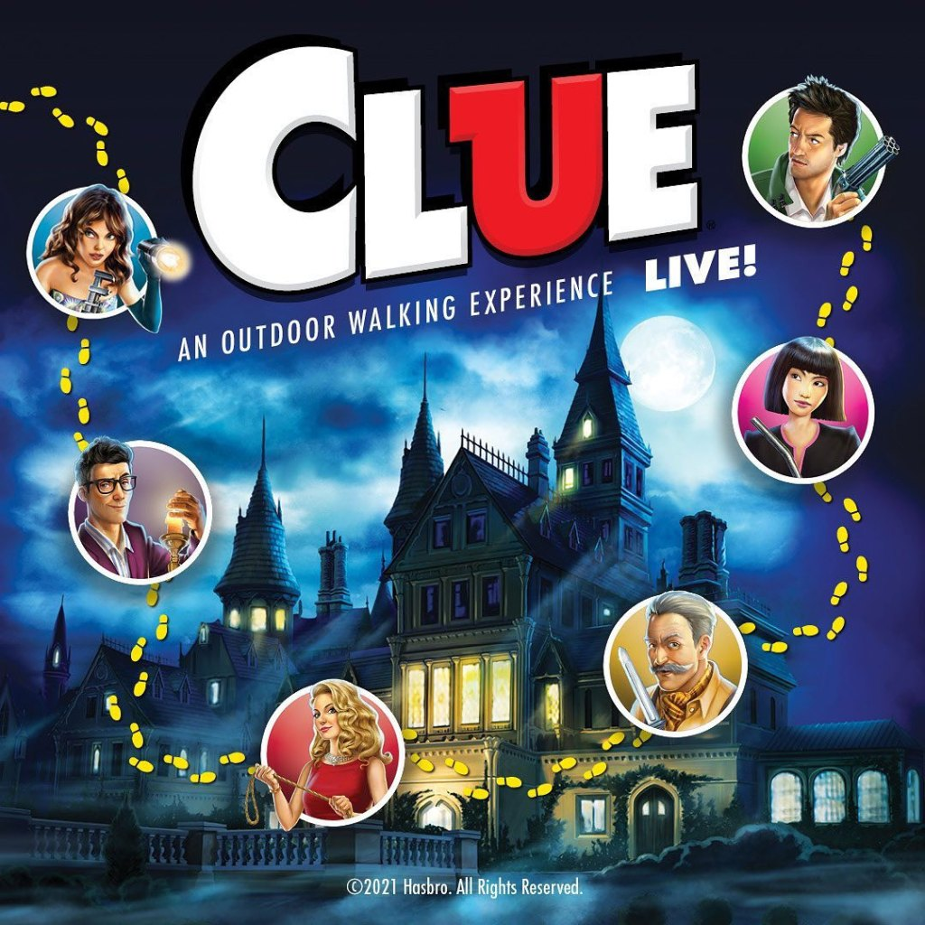 CLUE! Live: A Walking Experience Poster (Fuente/Source: Right Angle Entertainment / Hasbro)
