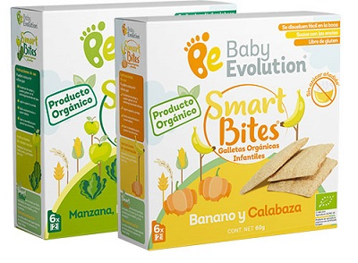 Baby Evolution presenta galletas 100% orgánicas SMART BITES.