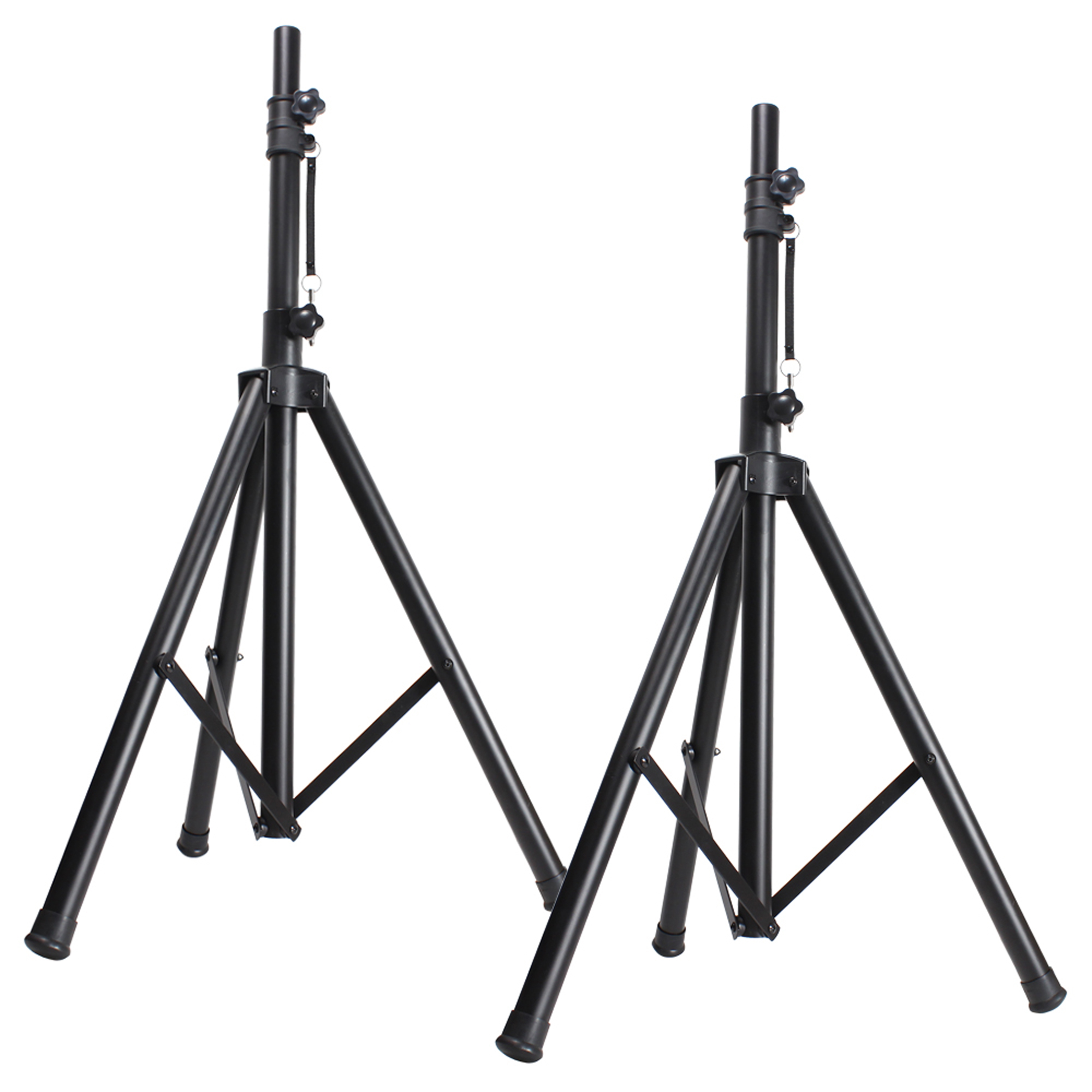 Pair Of Skytec 12 Passive And Active Pa Speakers Stands