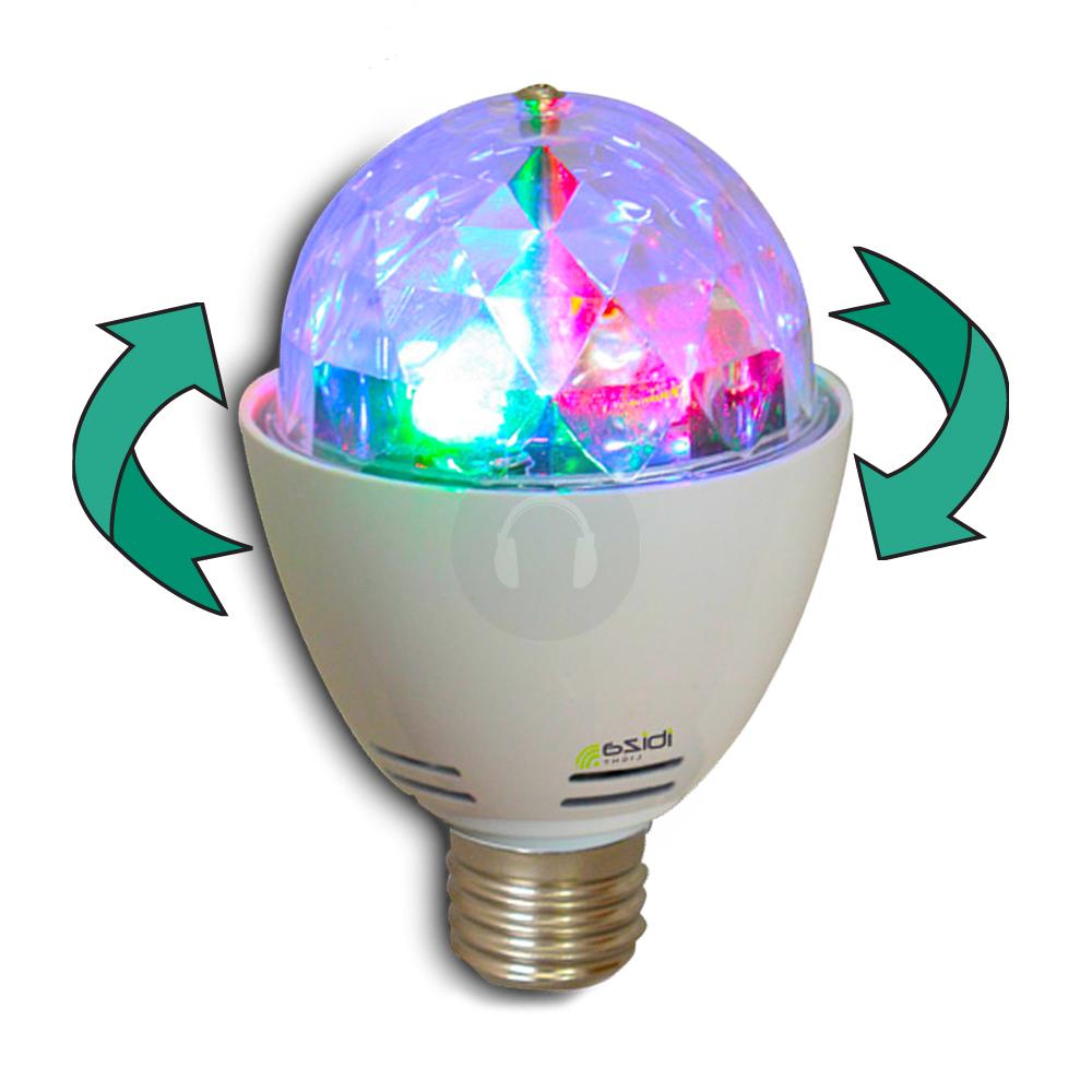 Rotating Disco Ball Light Bulb
