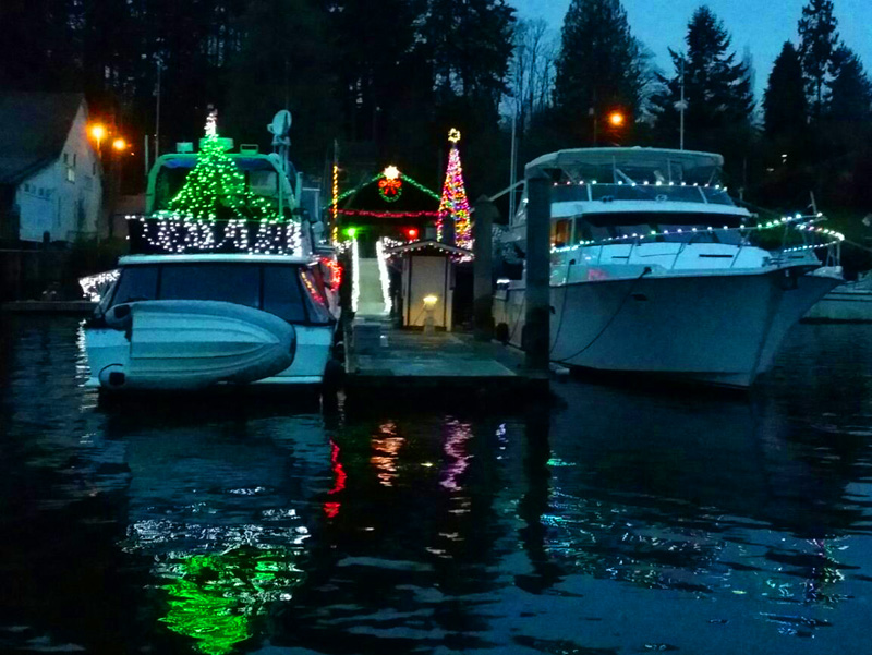 Holiday Lights in the Gig Harbor Harbor