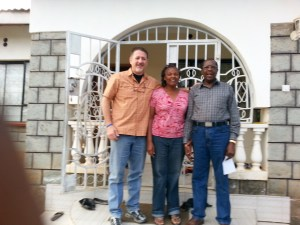 Me, Pastor and his wonderful wife in front of their home in Eldoret.