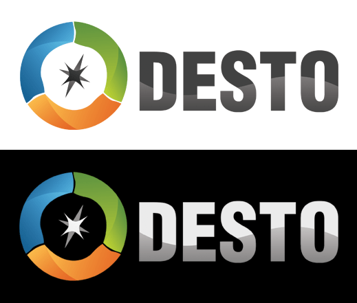 Desto logo design process