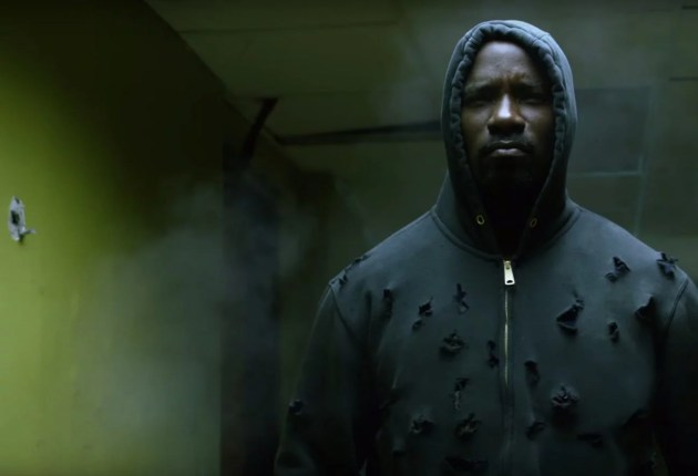 luke cage in a hoodie