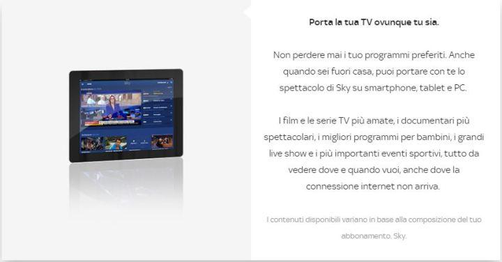 Sky Go Plus - nuove funzioni rispetto a Sky Go