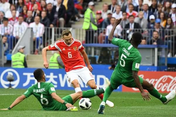 Mundial de Futbol: Rusia vence fácil a Arabia Saudita 5-0: Los anfitriones Rusia no tuvo problemas para vencer 5-0 a Arabia Saudita en el mundial de futbol