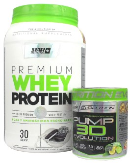 COMBO STAR NUTRITION Whey Premium + Pump 3D