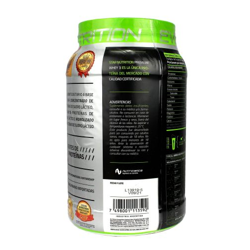 STAR NUTRITION PREMIUM WHEY 3 LADO 4