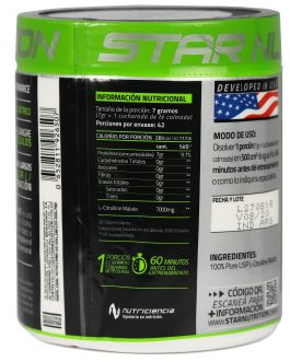 L-Citrulina Malate STAR NUTRITION (300 Grs)