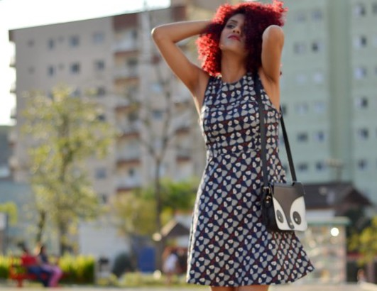 Look : Vestido estampado
