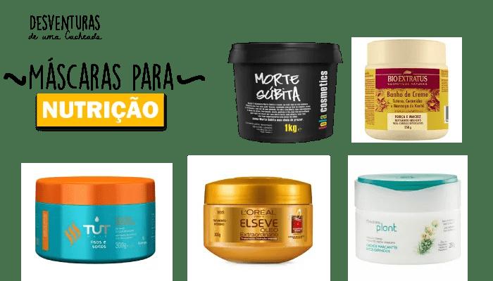 máscaras nutrição capilar